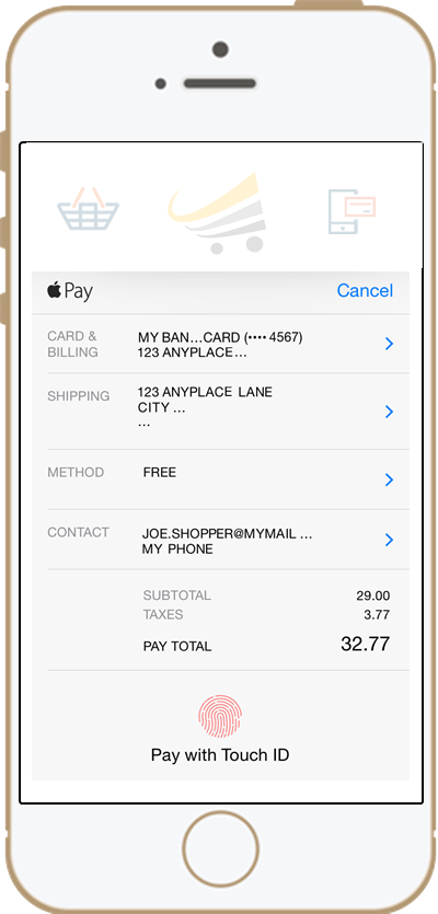 apple pay phone image